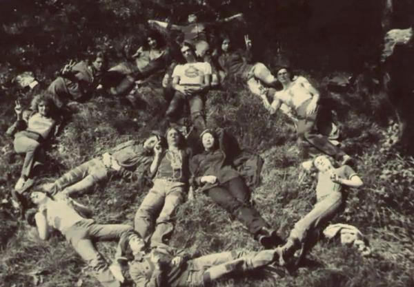 Happening ukrajinských hippies. Zdroj: archiv Alika Olisevyče