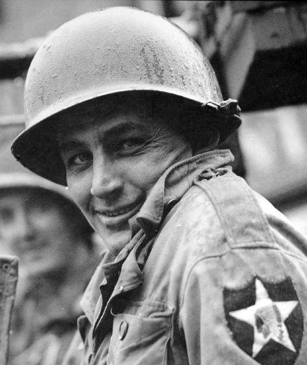 Americký voják 2. pěší divize v Domažlicích. Foto: Velvyslanectví USA v Praze