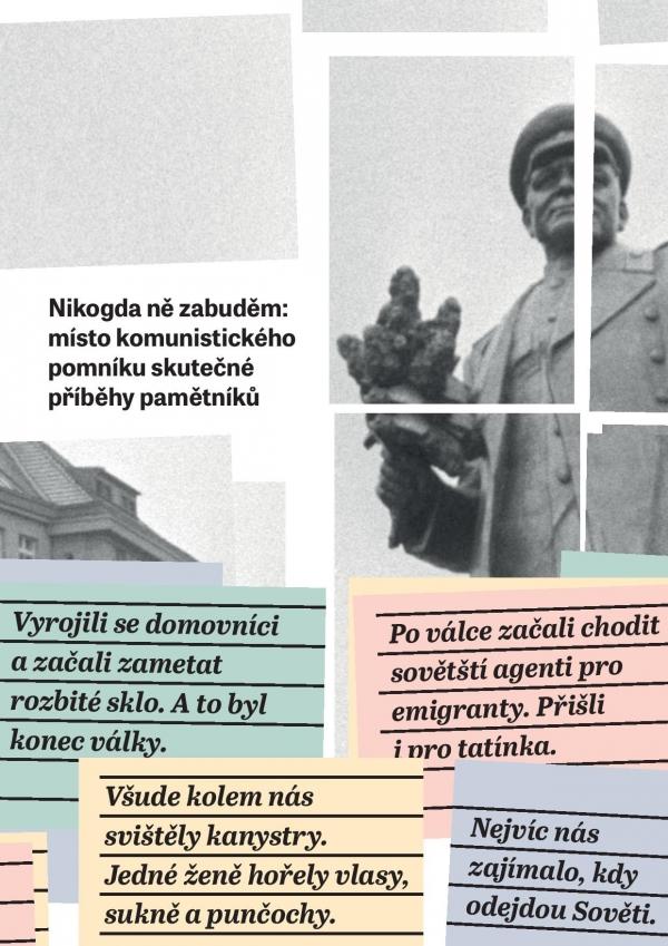 Plakát k výstavě Nikogda ně zabuděm. Zdroj: Paměť národa