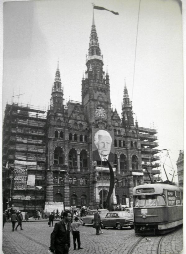 Liberecká radnice v srpnu 1968