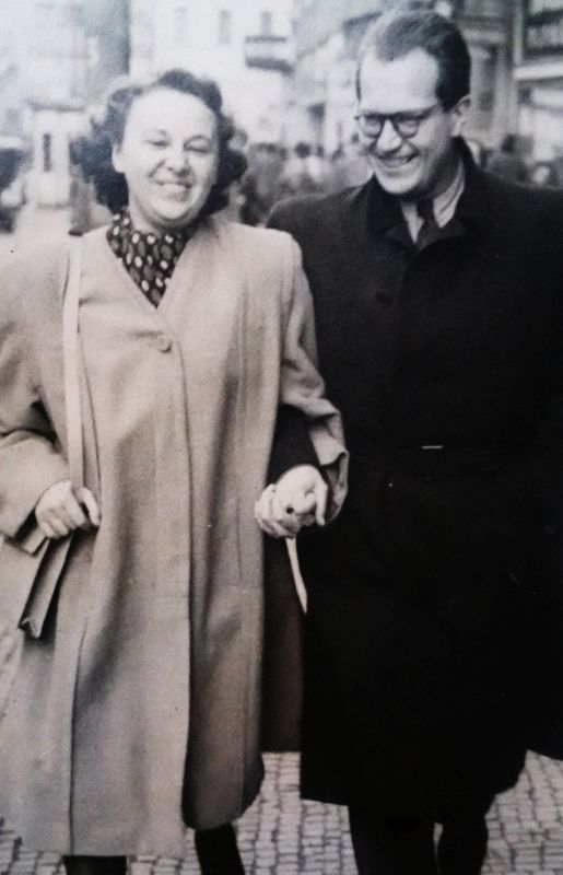 S manželem Rostislavem Běhalem. Zdroj: Paměť národa / archiv pamětnice
