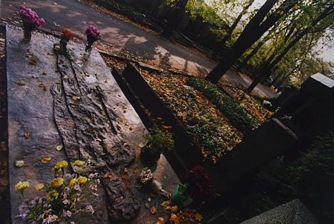 Náhrobní deska Olbrama Zoubka na Olšanských hřbitovech