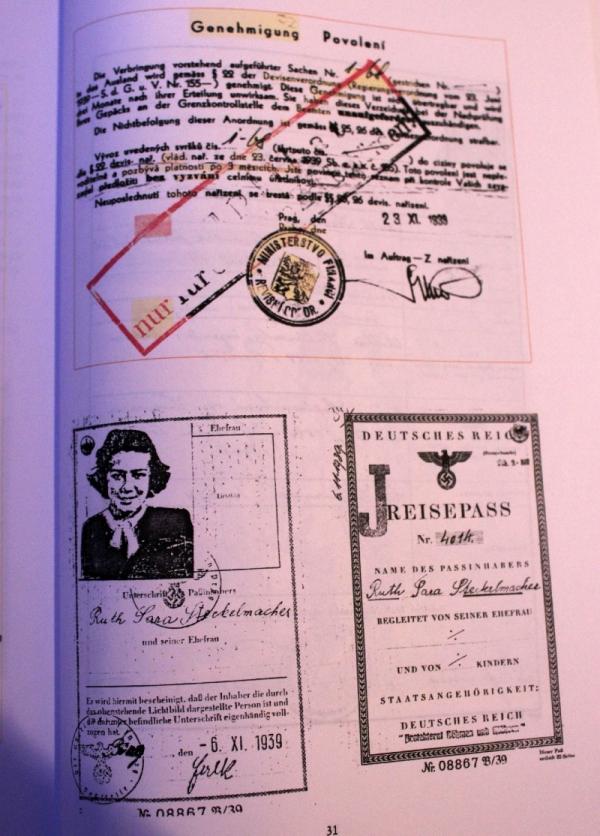 Povolení k výjezdu do Palestiny z 6. září 1939.