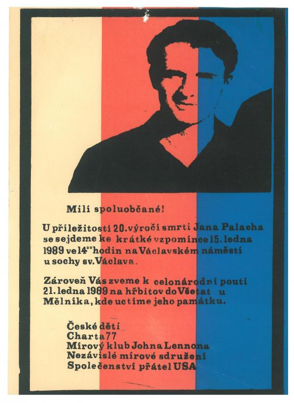 Pozvánka na pietní vzpomínku na Jana Palacha