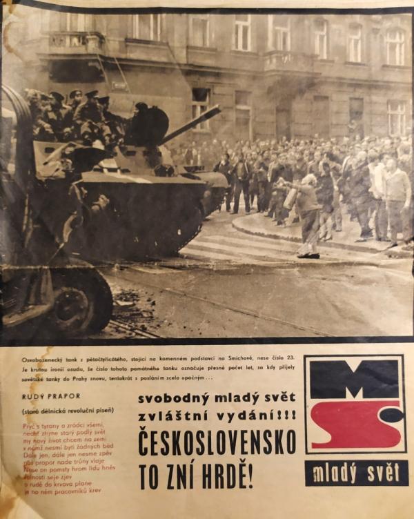 Vydání časopisu Mladý svět ze srpna 1968. Zdroj: Paměť národa