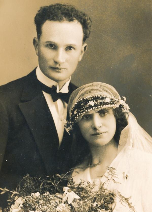Svatební foto Ladislava a Marie Daškových. V době kolektivizace šli do vězení oba.
