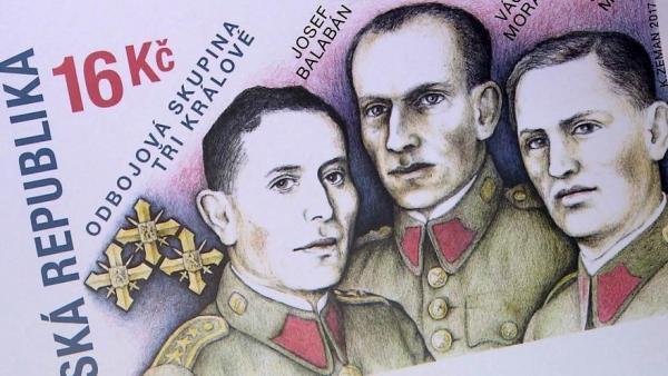 Tři králové na známce ze září 2017.