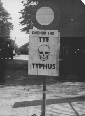 Výstraha před tyfem v Terezíně.