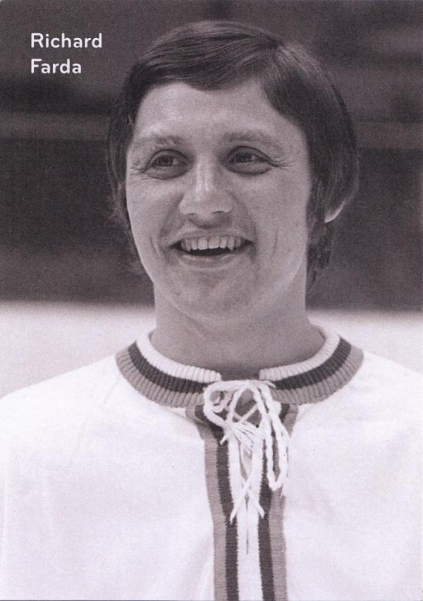 Richard Farda v reprezentačním dresu v roce 1974.Foto. Paměť národa