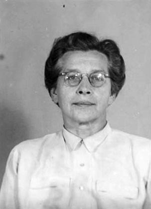 Vazební fotografie Milady Horákové. Popravena byla přesně 9 měsíců po zatčení 27. září 1949.