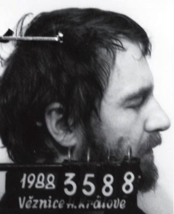 Pavel Wonka v hradecké vazební věznici. Foto: Paměť národa