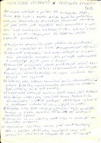 Deset požadavků studentů pražských vysokých škol zformulovaných 18. listopadu 1989.