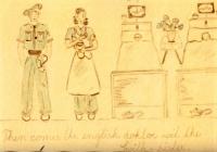 Čtvrtý obrázek s popiskem: Pak přichází anglický lékař se švýcarskou zdravotní sestrou.