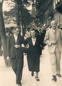 Rodiče, září 1939, Václavské náměstí