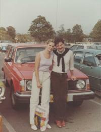 Albín a Júlia pri prílete do Austrálie, Sydney, september 1981