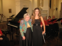 Jacquelin with a famous composer Rosalind Carlson