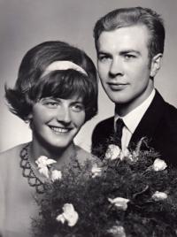 Svatební fotografie Jindřicha Machaly, 1966