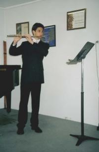 Albínov syn Richard - ekonóm a flautista