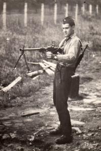 Jakub Sviták při výcviku / 1976