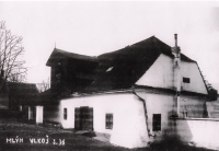 Vítek family mill in Vlkoš that was confiscated and demolished in the 1950s