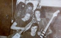 Zábřežská kapela Venus. Jan Habiger, Vlastiml Lokr, Jaroslav Vojtek a Stanislav Stojaspal.
