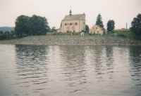 Church in Karlovec near the Slezská Harta dam, where František Kunetka served as a pastor