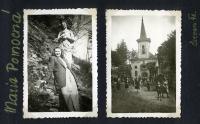 Původní podoba poutního místa Mariahilf na snímcích v rodinném albu (konec 50. let).