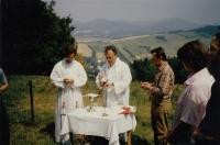 At the Salesian cottage houses in Vidče u Rožnova