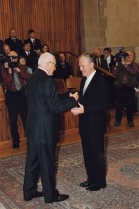 During his being named professor of theology at Charles University in Prague, 31. 10. 2008