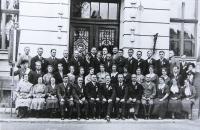 Personál obecné školy, Město Libavá, 1933