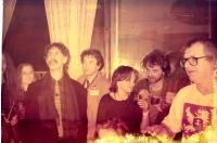 S Frankem Zappou a Ivanem Martinem Jirousem v hotelu Kriváň. Praha, zima 1990