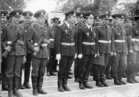 Sovětští vojáci na svém nástupišti, Město Libavá