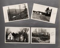 Stránka z rodinného alba zobrazující okolí kapličky zasvěcené sv. Martě na konci 50. let.