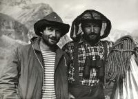Jiří Blata (vpravo), pohoří Kodar, Sibiř