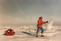 Zimní přechod jezera Bajkal, Sibiř 1990