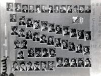 Adam Rucki na maturitním tablu (třetí zleva dole) / Český Těšín 1969