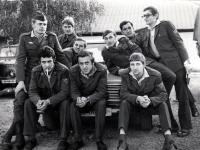 Adam Rucki (stojící zprava) na vojně / 1976