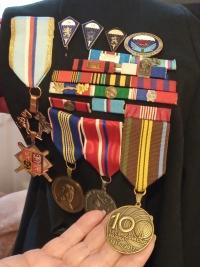Obdržené řády a medaile
