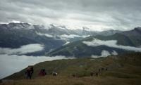 V Alpách – vpředu V. Náhlíková (r. 2010)