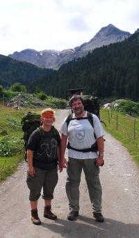 Věra a Petr Náhlíkovi v Alpách (r. 2010)