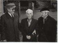 Karel Šobr (uprostřed) s Františkem Kopeckým (vlevo) a Františkem Přeučilem