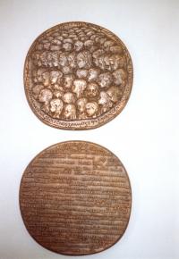 Bronzová medaile na památku 94 zavražděných lidických dětí (1973)