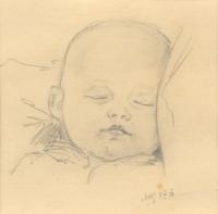 Kresba Marie Uchytilové dcery Sylvie Klánové (1950)