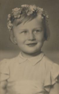Dcera Marie Uchytilové Sylvia Klánová ve svých třech letech