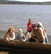 1. máj v Těnovicích na Horním Padrťském rybníku (r. 2007)