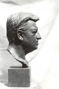 Busta herce Martina Růžka (poč. 80. let)
