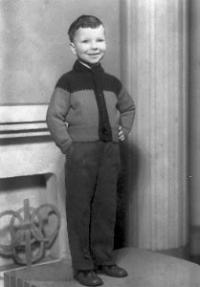 František Stárek v 1. třídě ZŠ
