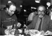 František Stárek s Pavlem Tigridem v roce 1990