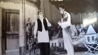 1968 - pamětník jako ochotnický divadelník ve hře Toman a lesní panna