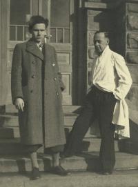 1941 - Karel Dobruský manžel a jeho otec Karel Dobruský